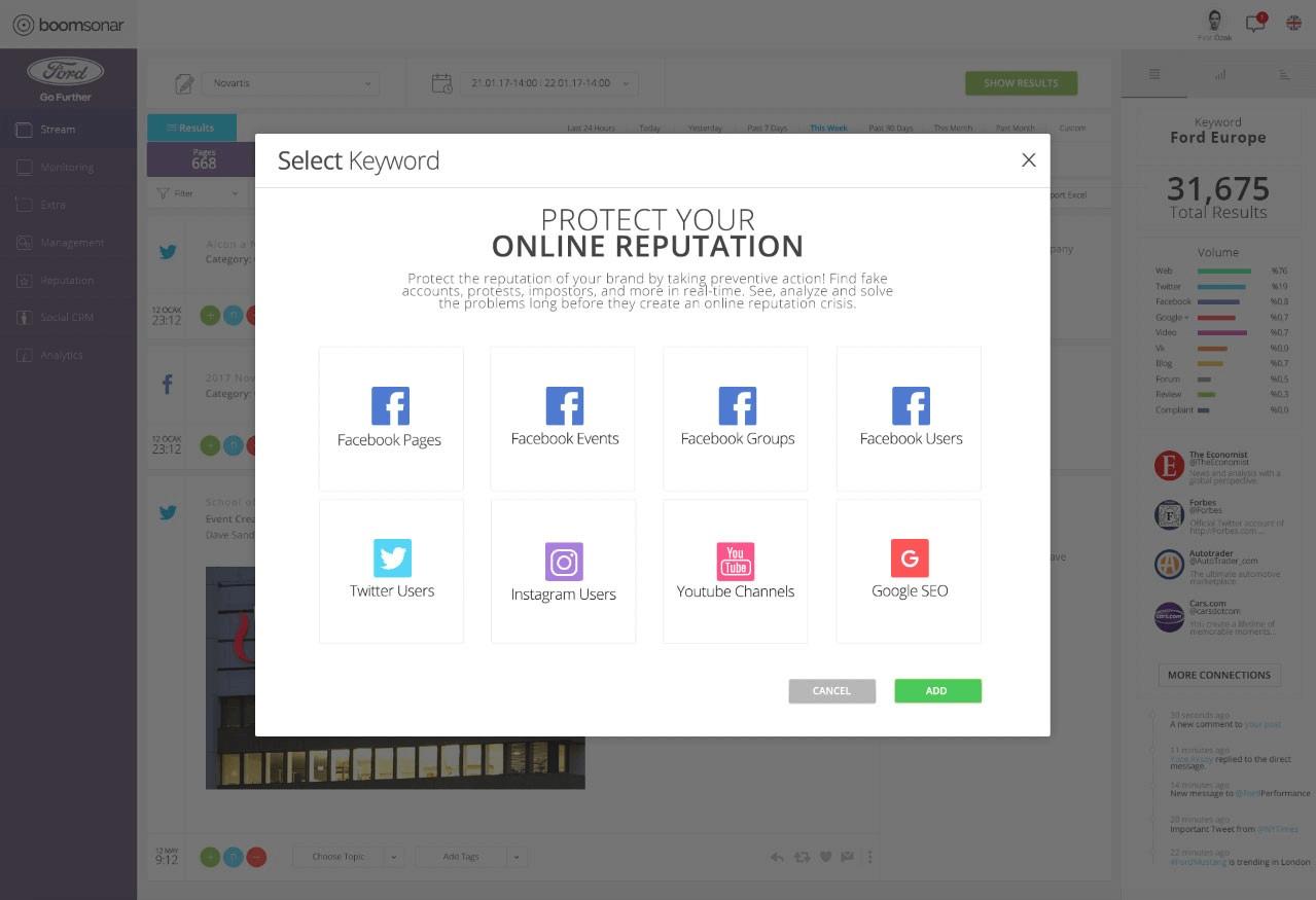 Facebook online itibar yönetimi